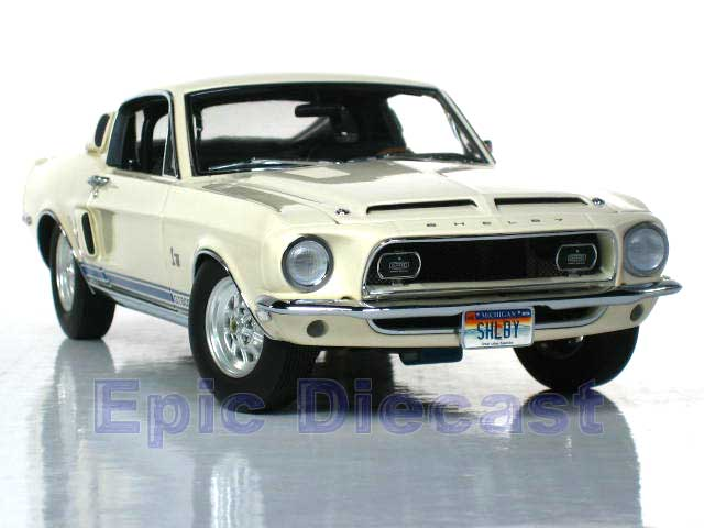 1968 Shelby Mustang GT 500KR diecast car White #707 from Exact Detail