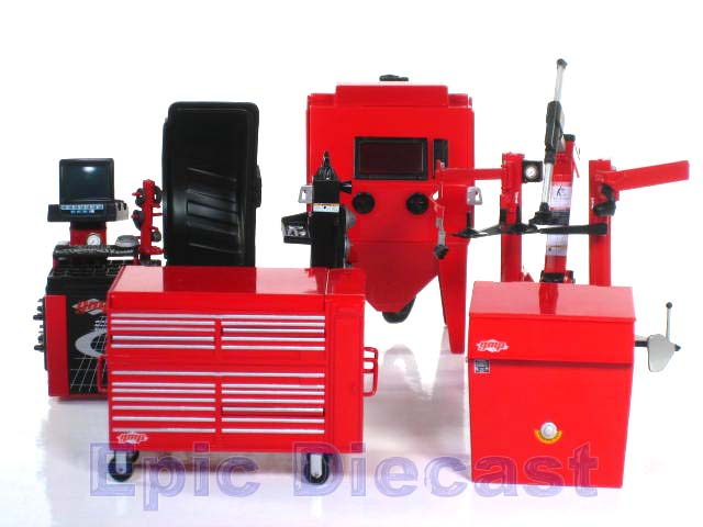 Shop equipment set professional 1 18 for Parlour equipment